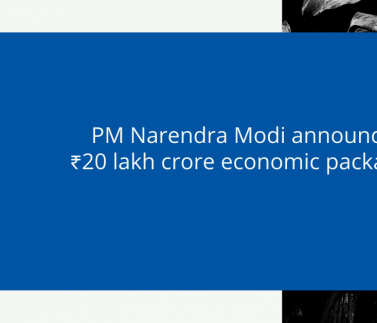 PM Narendra Modi announces ₹20 lakh crore economic package