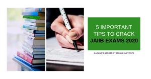 5 IMPORTANT TIPS TO CRACK JAIIB EXAMS 2020
